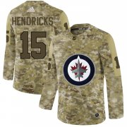 Wholesale Cheap Adidas Jets #15 Matt Hendricks Camo Authentic Stitched NHL Jersey