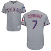 Wholesale Cheap Rangers #7 Ivan Rodriguez Grey Flexbase Authentic Collection Stitched MLB Jersey