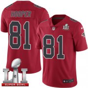 Wholesale Cheap Nike Falcons #81 Austin Hooper Red Super Bowl LI 51 Youth Stitched NFL Limited Rush Jersey