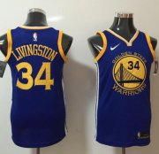 Wholesale Cheap Nike Golden State Warriors #34 Shaun Livingston Blue NBA Swingman Icon Edition Jersey