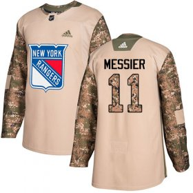 Wholesale Cheap Adidas Rangers #11 Mark Messier Camo Authentic 2017 Veterans Day Stitched Youth NHL Jersey
