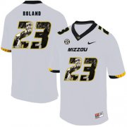 Wholesale Cheap Missouri Tigers 23 Johnny Roland White Nike Fashion College Football Jersey