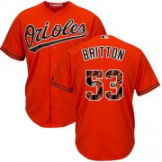 Wholesale Cheap Orioles #53 Zach Britton Orange Team Logo Fashion Stitched MLB Jersey