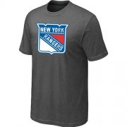 Wholesale Cheap New York Rangers Big & Tall Logo Crow Grey NHL T-Shirt