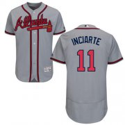 Wholesale Cheap Braves #11 Ender Inciarte Grey Flexbase Authentic Collection Stitched MLB Jersey