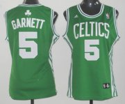 Wholesale Cheap Boston Celtics #5 Kevin Garnett Green Womens Jersey