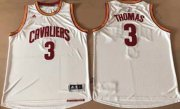 Wholesale Cheap Cleveland Cavaliers #3 Thomas White Stitched NBA Jersey