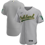 Wholesale Cheap Oakland Athletics Men's Nike Gray Road 2020 Authentic Official Team MLB Jersey