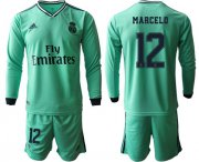 Wholesale Cheap Real Madrid #12 Marcelo Third Long Sleeves Soccer Club Jersey