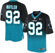 Wholesale Nike Panthers #92 Vernon Butler Black/Blue Men's Stitched NFL Elite Fadeaway Fashion Jersey