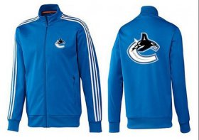 Wholesale Cheap NHL Vancouver Canucks Zip Jackets Blue-2