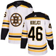 Wholesale Cheap Adidas Bruins #46 David Krejci White Road Authentic Youth Stitched NHL Jersey