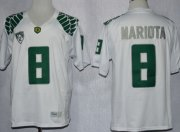 Wholesale Cheap Oregon Ducks #8 Marcus Mariota 2013 White Limited Jersey