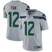 Wholesale Cheap Nike Seahawks #12 Fan Grey Alternate Men's Stitched NFL Vapor Untouchable Limited Jersey