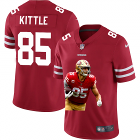 Cheap San Francisco 49ers #85 George Kittle Nike Team Hero Vapor Limited NFL Jersey Red