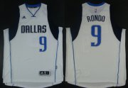 Wholesale Cheap Dallas Mavericks #9 Rajon Rondo Revolution 30 Swingman 2014 New White Jersey