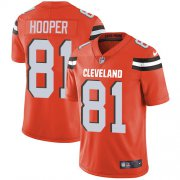 Wholesale Cheap Nike Browns #81 Austin Hooper Orange Alternate Youth Stitched NFL Vapor Untouchable Limited Jersey