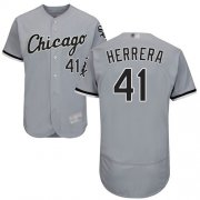 Wholesale Cheap White Sox #41 Kelvin Herrera Grey Flexbase Authentic Collection Stitched MLB Jersey
