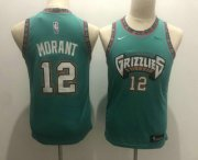 Cheap Youth Memphis Grizzlies #12 Ja Morant Green Nike 2019 ABA Hardwood Classics Green Throwback Swingman Jersey With The Sponsor Logo