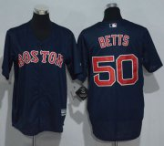 Wholesale Cheap Red Sox #50 Mookie Betts Dark Blue Cool Base Stitched Youth MLB Jersey