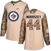 Wholesale Cheap Adidas Jets #44 Josh Morrissey Camo Authentic 2017 Veterans Day Stitched NHL Jersey