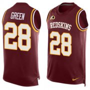 Wholesale Cheap Nike Redskins #28 Darrell Green Burgundy Red Team Color Men's Stitched NFL Limited Tank Top Jersey