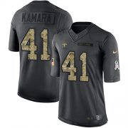 Wholesale Cheap Nike Saints #41 Alvin Kamara Black Men's Stitched NFL Limited 2016 Salute To Service Jersey