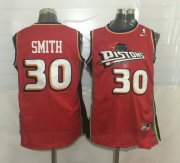 Wholesale Cheap Men's Detroit Pistons #30 Joe Smith Red Hardwood Classics Soul Swingman Throwback Jersey