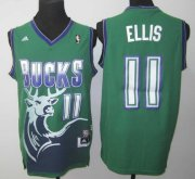 Wholesale Cheap Milwaukee Bucks #11 Monta Ellis ABA Hardwood Classics Swingman Green Jersey