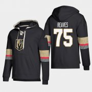 Wholesale Cheap Vegas Golden Knights #75 Ryan Reaves Black adidas Lace-Up Pullover Hoodie