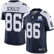 Wholesale Cheap Nike Cowboys #86 Dalton Schultz Navy Blue Thanksgiving Men's Stitched With Established In 1960 Patch NFL Vapor Untouchable Limited Throwback Jersey