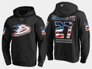 Wholesale Cheap Ducks #27 Scott Niedermayer NHL Banner Wave Usa Flag Black Hoodie