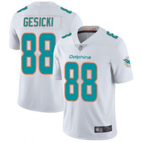Wholesale Cheap Nike Dolphins #88 Mike Gesicki White Men\'s Stitched NFL Vapor Untouchable Limited Jersey