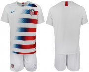 Wholesale Cheap USA Blank Home Soccer Country Jersey