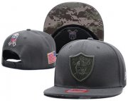 Wholesale Cheap NFL Oakland Raiders Team Logo Salute To Service Adjustable Hat