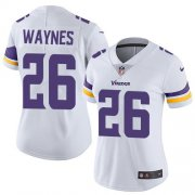 Wholesale Cheap Nike Vikings #26 Trae Waynes White Women's Stitched NFL Vapor Untouchable Limited Jersey