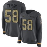 Wholesale Cheap Nike Seahawks #58 Darrell Taylor Anthracite Salute to Service Women's Stitched NFL Limited Therma Long Sleeve Jersey