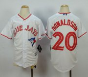 Wholesale Cheap Blue Jays #20 Josh Donaldson White 2015 Canada Day Stitched Youth MLB Jersey