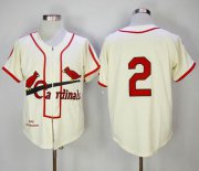 Wholesale Cheap Mitchell And Ness 1946 Cardinals #2 Red Schoendienst Cream Throwback Stitched MLB Jersey