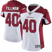 Wholesale Cheap Nike Cardinals #40 Pat Tillman White Women's Stitched NFL Vapor Untouchable Limited Jersey