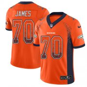 Wholesale Cheap Nike Broncos #70 Ja'Wuan James Orange Team Color Men's Stitched NFL Limited Rush Drift Fashion Jersey