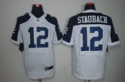 Wholesale Cheap Nike Cowboys #12 Roger Staubach White Thanksgiving Throwback Men's Stitched NFL Elite Jersey