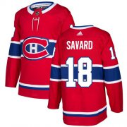 Wholesale Cheap Adidas Canadiens #18 Serge Savard Red Home Authentic Stitched NHL Jersey