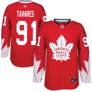 Wholesale Cheap Adidas Maple Leafs #91 John Tavares Red Team Canada Authentic Stitched Youth NHL Jersey