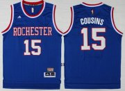 Wholesale Cheap Sacramento Kings #15 DeMarcus Cousins Hardwood Classic Blue Swingman Throwback Jersey