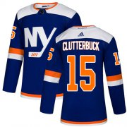 Wholesale Cheap Adidas Islanders #15 Cal Clutterbuck Blue Authentic Alternate Stitched NHL Jersey