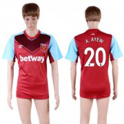 Wholesale Cheap West Ham United #20 A.Ayew Home Soccer Club Jersey