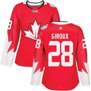 Wholesale Cheap Team Canada #28 Claude Giroux Red 2016 World Cup Women's Stitched NHL Jersey