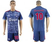 Wholesale Cheap Ajax #10 Klaassen Away Soccer Club Jersey