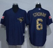 Wholesale Cheap Blue Jays #6 Marcus Stroman Denim Blue Salute to Service Stitched MLB Jersey